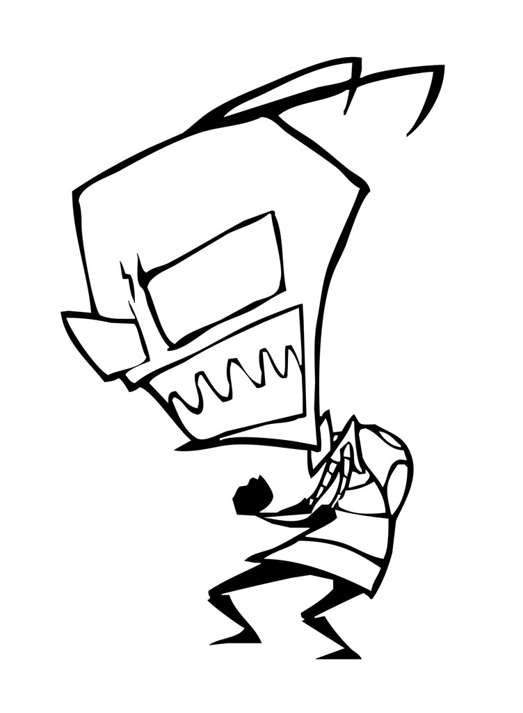 coloring pages of gir - photo#22