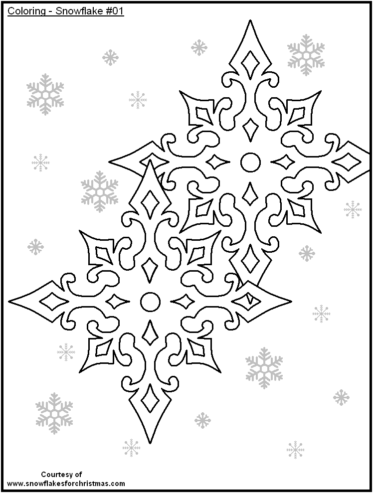 Coloring Pages Of Snowflakes | Kids Coloring Pages | Printable ...