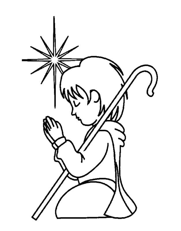 Child Praying Coloring Page AZ