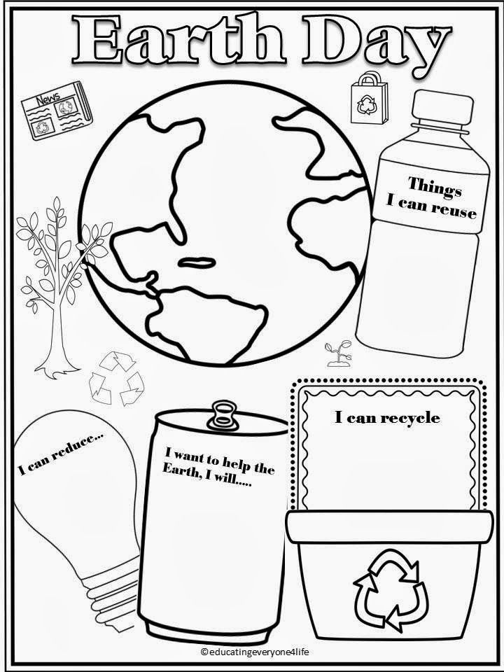 Earth Day Coloring Pages Pdf : Earth day activity sheets coloring home
