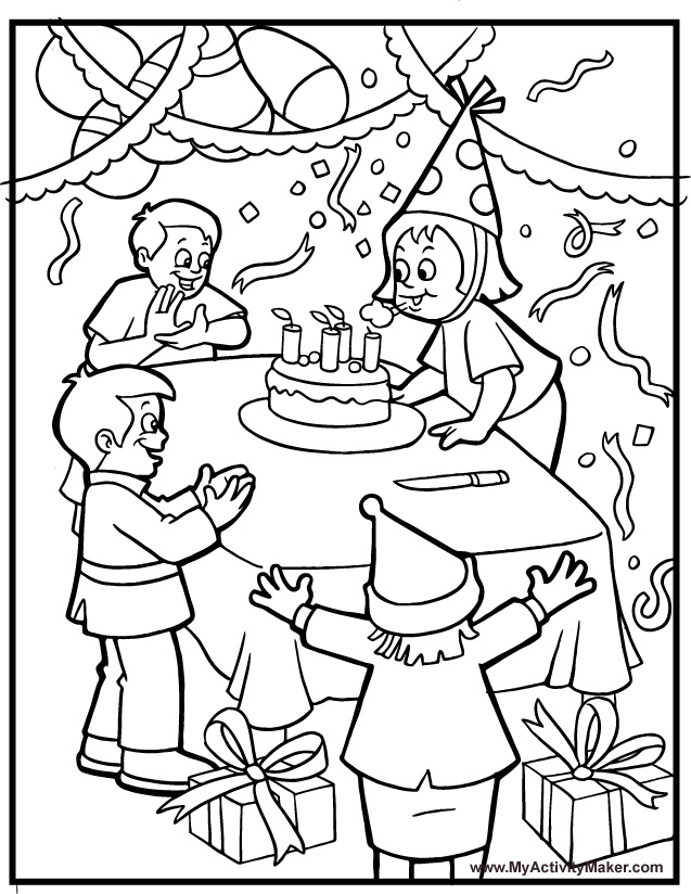 Birthday Card Coloring Pages - AZ Coloring Pages: azcoloring.com/birthday-card-coloring-pages