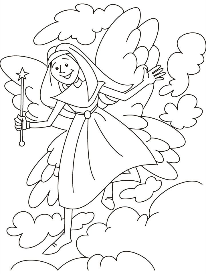Tooth Fairy Coloring Pages Coloring Home