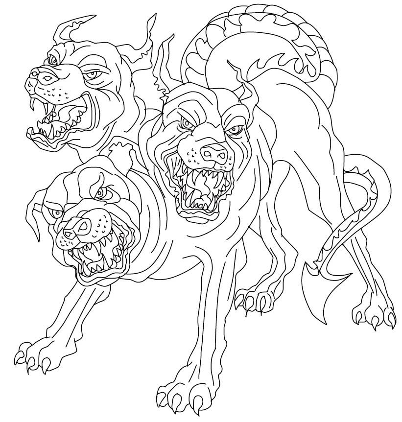 Cerberus Greek Mythology Drawing