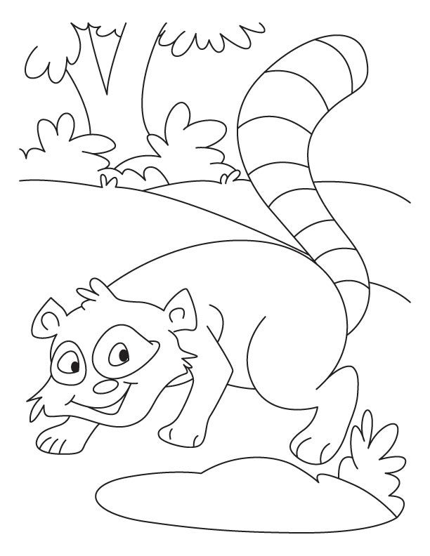 Chester Raccoon Coloring Page