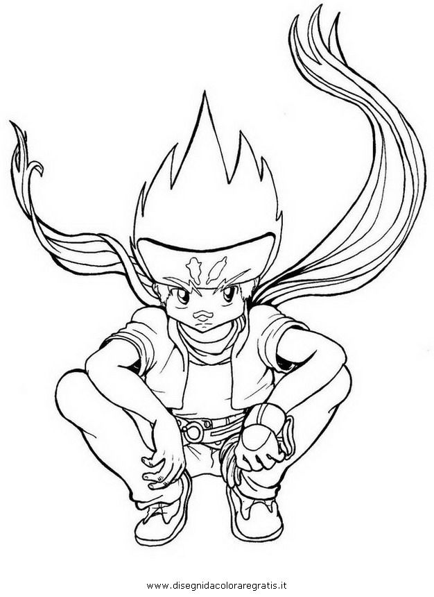 beyblade coloring pages gingka - photo#14