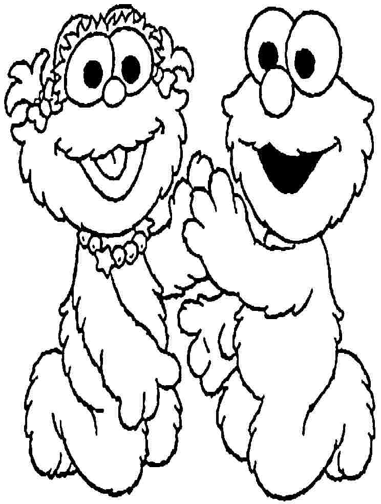 sesame street zoe colouring pages page 2
