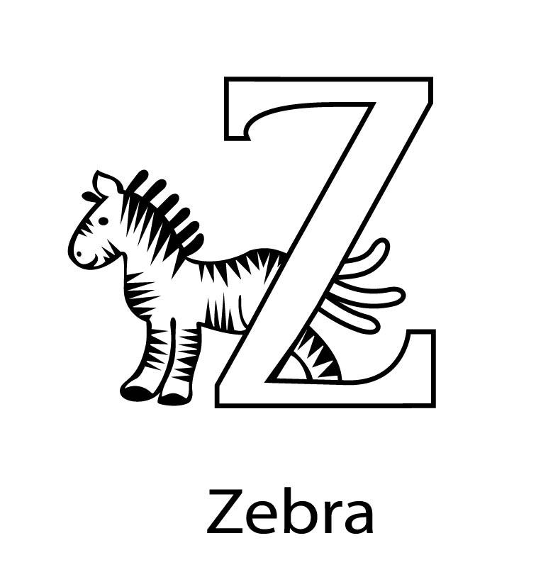 Coloring Pages Zipper : Letter z coloring pages az