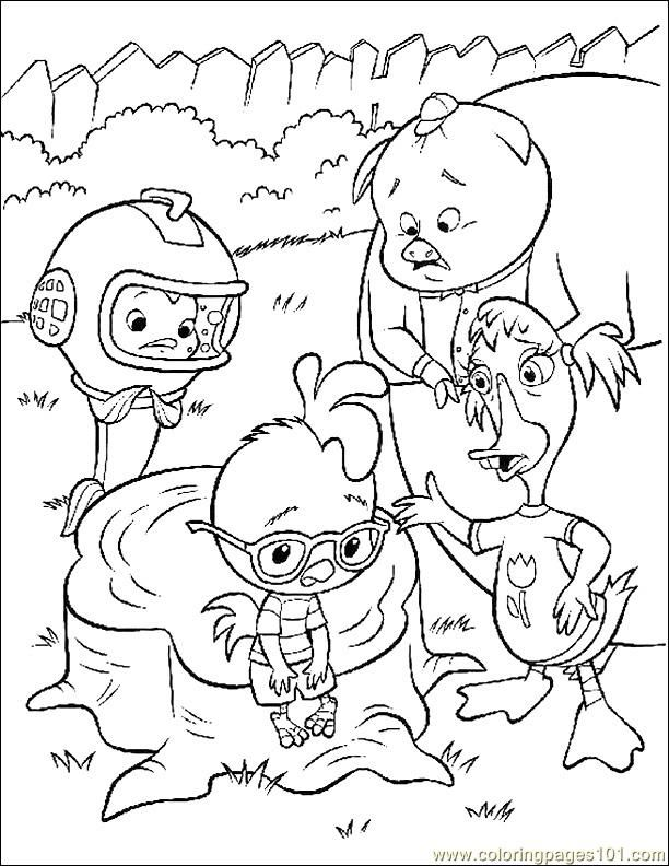 Chicken Little Coloring Page