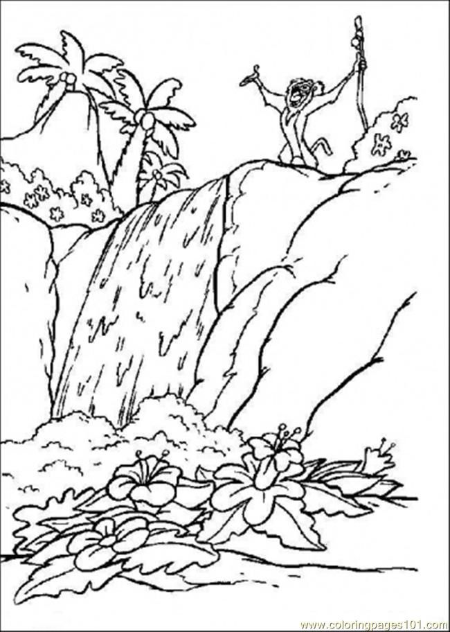 Forest trees coloring pages coloring pages for Rainforest leaves coloring pages