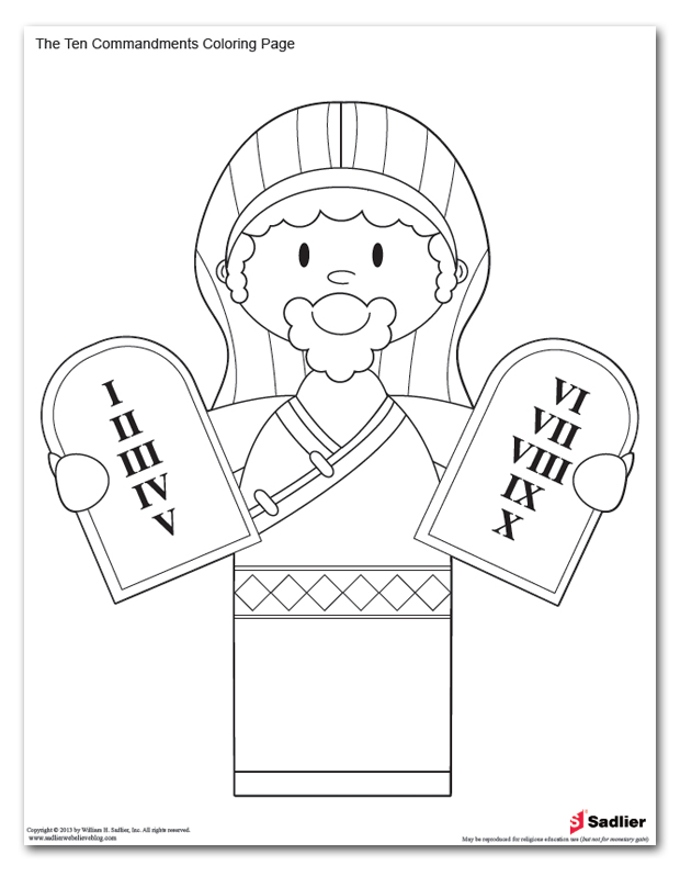 free coloring pages ten commandments - photo#23
