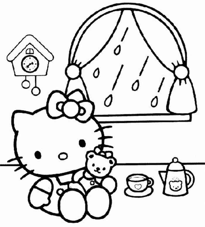 Tea Party Coloring Page Coloring
