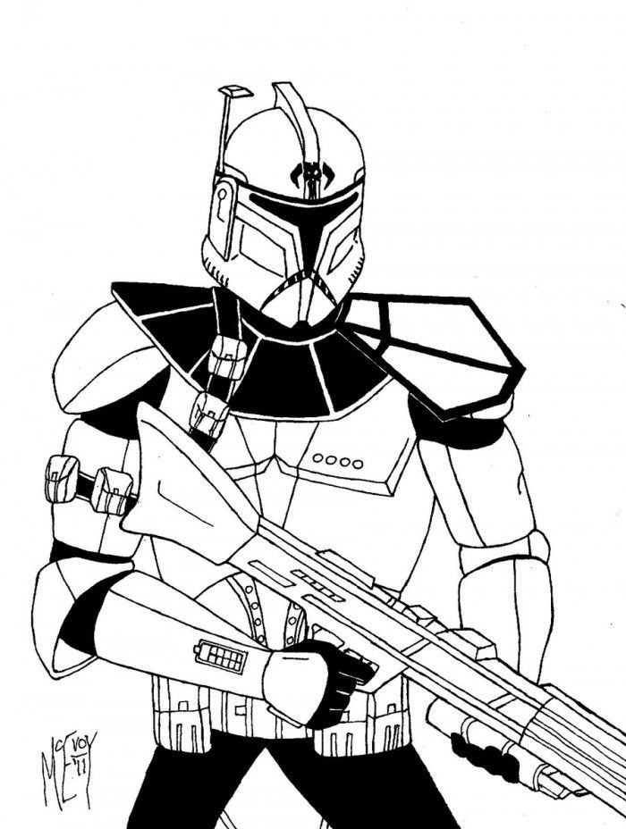 Clone Trooper Coloring Pages Coloring Home Clone Trooper Coloring Page
