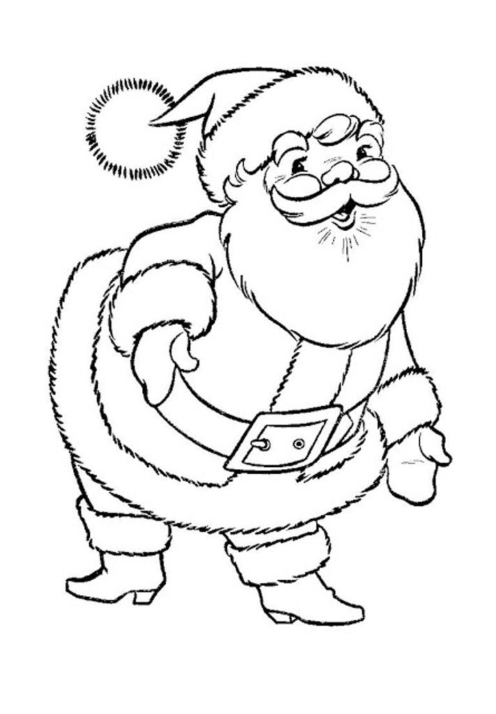 Download Santa Claus Christmas Coloring Pages Printable Or Print