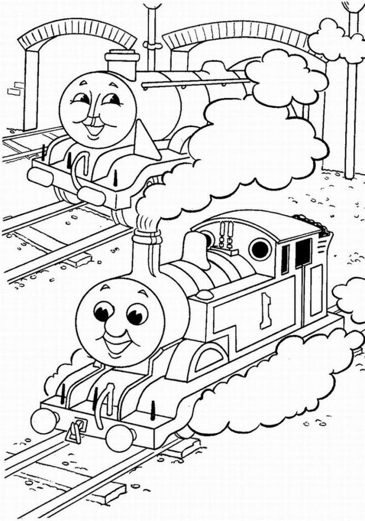 Cartoon: Best Thomas And Friends Be Happy Coloring For Kids