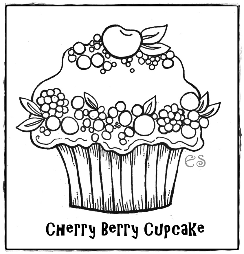 Free Coloring Pages Cupcake Pages