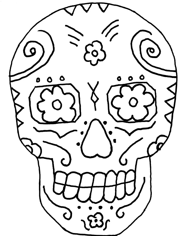 Sugar Skull Coloring Page Az Coloring Pages Day Of The Dead Skull Coloring Pages