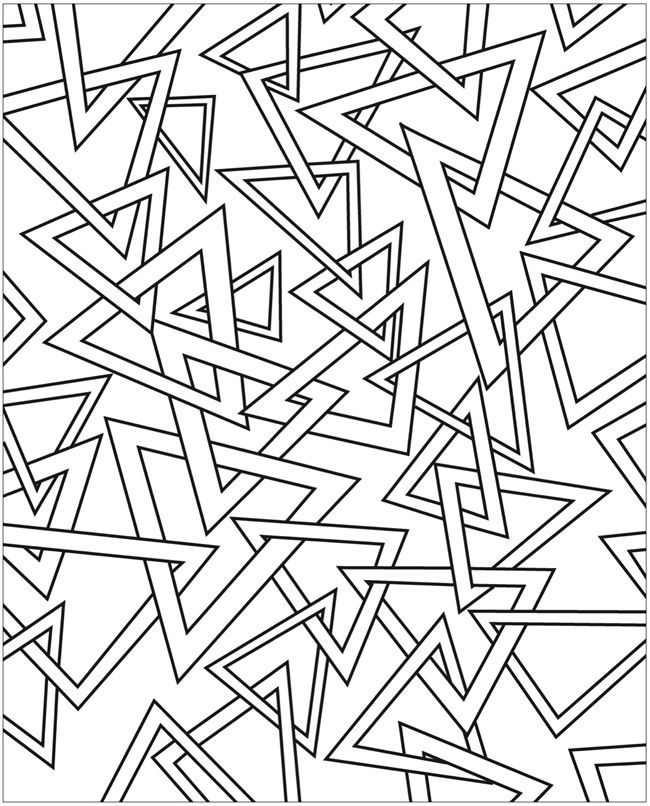 Free Coloring Pages Of 3d 3d Coloring Pages