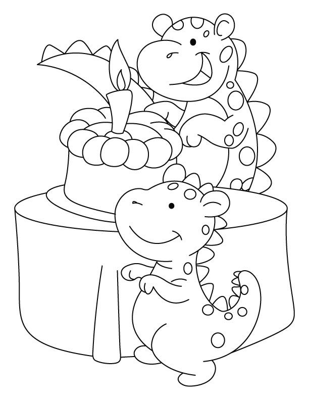 Birthday Card Coloring Pages - Coloring Home
