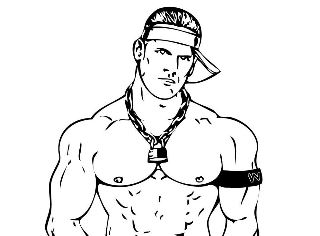 Funny: Cool Wwe John Cena Coloring Pages, ~ Coloring Sheets