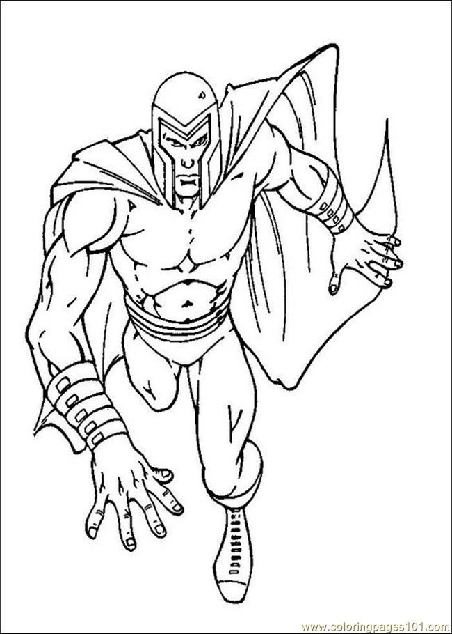 Free Printable Coloring Page X Men Pages 002 Cartoons