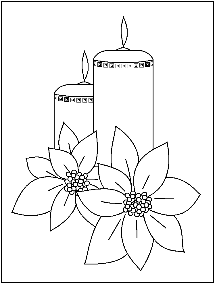Free Christmas Candles Coloring Pages Coloring Home Free Printable Candle Coloring Pages