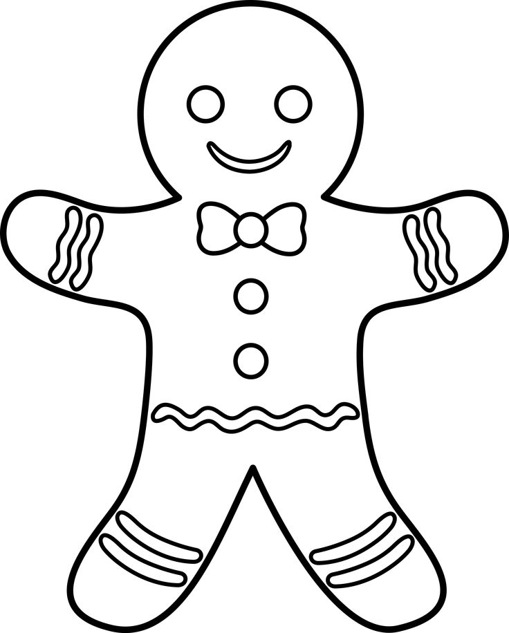 ginger man coloring pages - photo#2