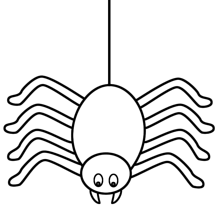 spider web coloring page cute halloween spider coloring page