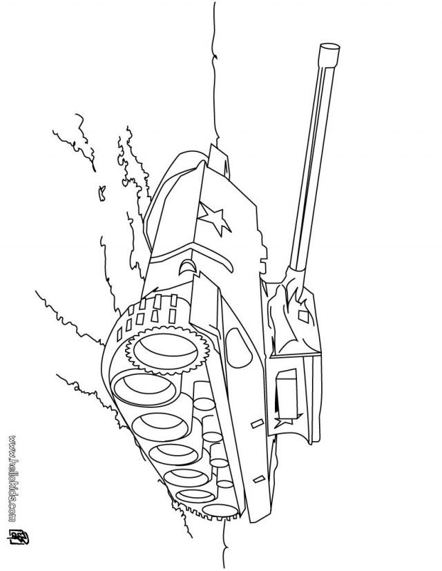 Army Vehicles Coloring Pages #7
