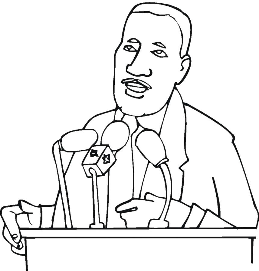 martin luther king jr coloring pages for kids az coloring pages