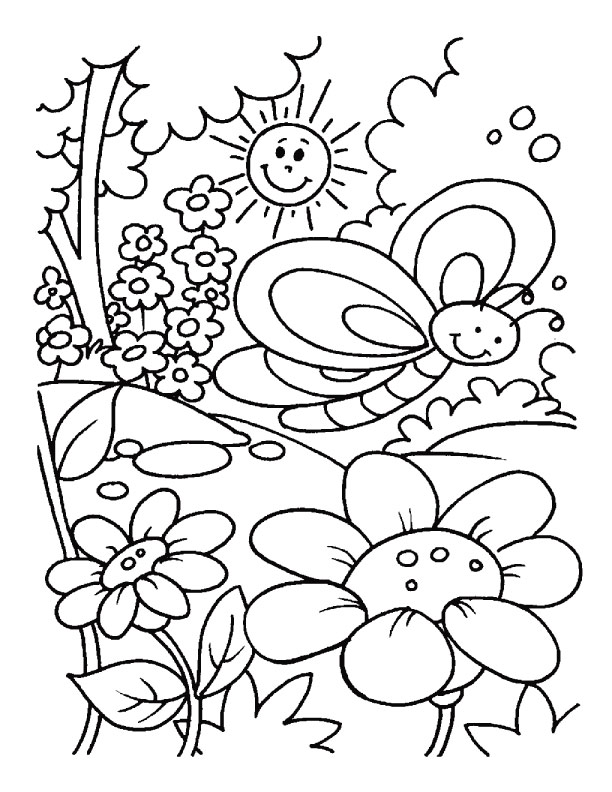 Free Coloring Pages For Preschoolers Spring : Spring coloring pages for adults az
