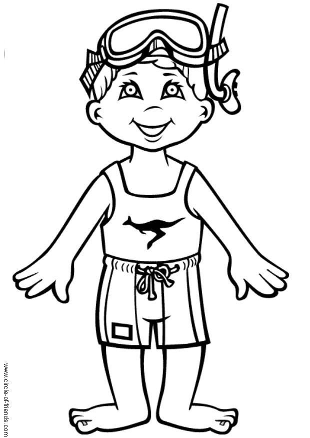 coloring pages swimming pool - photo#22