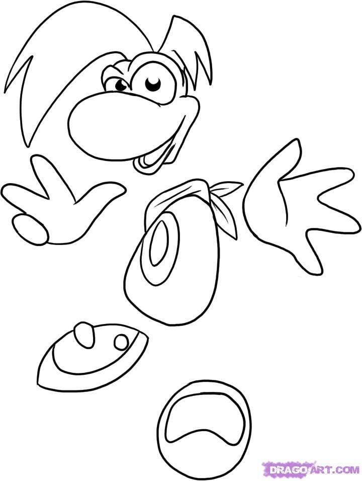 Rayman Coloring Pages - Coloring Home Rabbids Coloring Pages