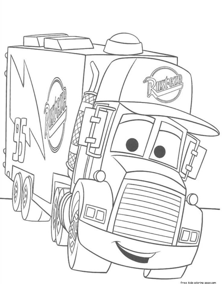 Cars 2 Mack Truck Car Carrier Coloring Pages For Kids Free Rhcoloringhome: Car Carrier Coloring Pages At Baymontmadison.com