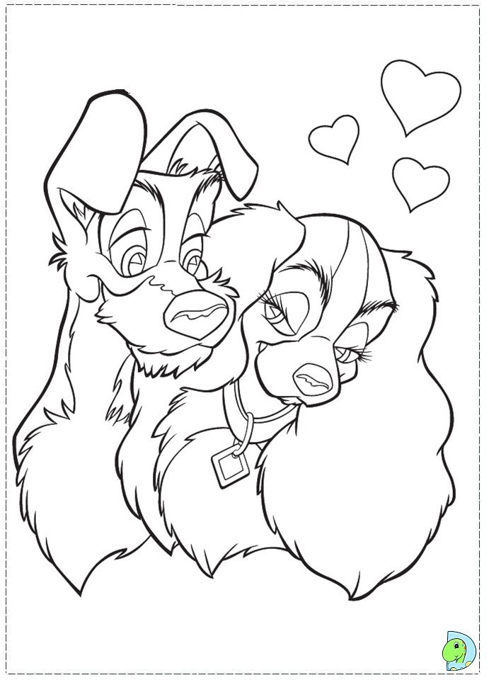 lady and the tramp 2 coloring pages az coloring pages