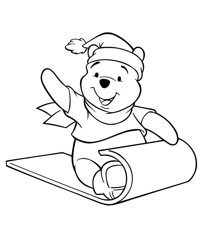 Winnie The Pooh Christmas Coloring