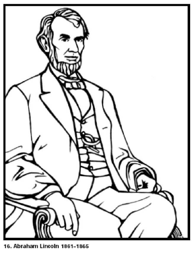 Abraham Lincoln Coloring Pages Pdf Abraham Lincoln Coloring Page