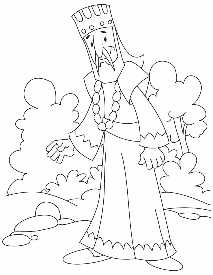 King Coloring Page Images Pictures