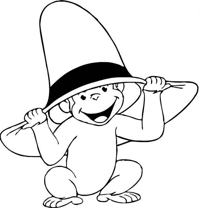Monkey Face Coloring Page