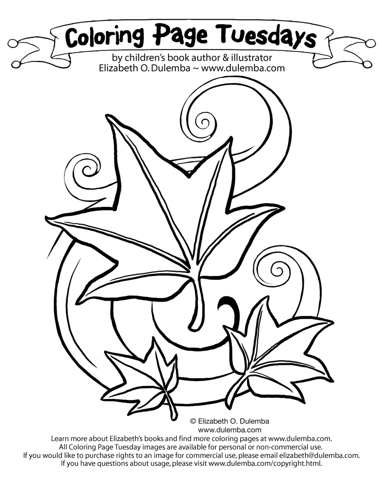 fall leaves blowing coloring pages - photo#36