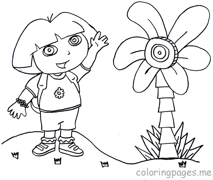 coloring pages dora halloween special - photo#2