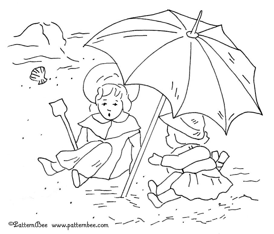 end of summer coloring pages - photo#8