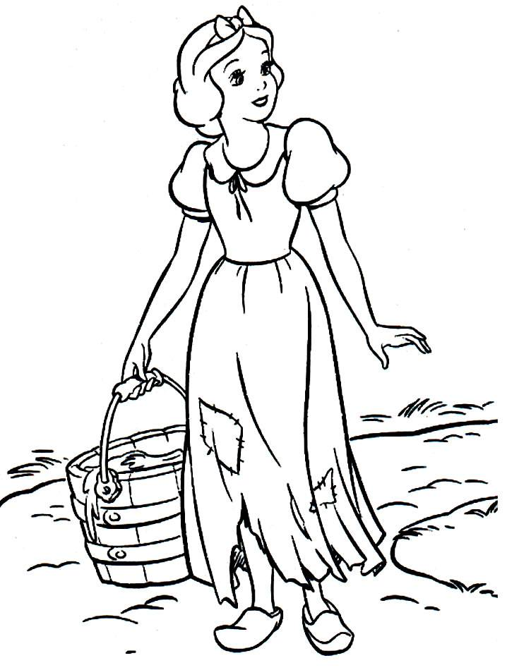 Coloring pages snow white and the seven dwarfs - picture 1