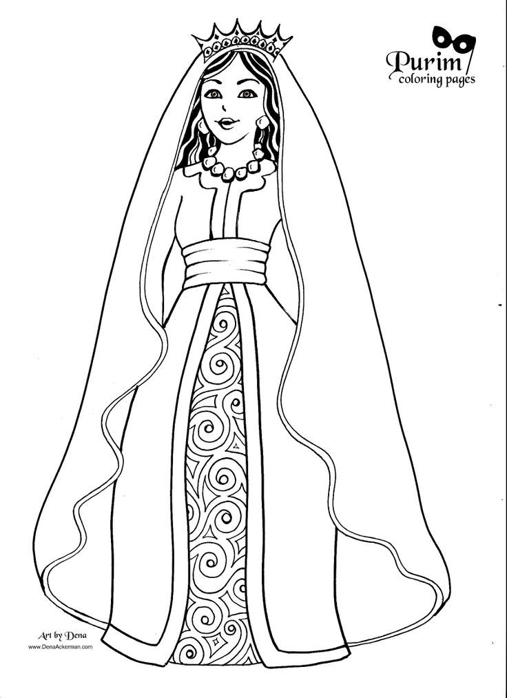 Purim Coloring Pages Coloring