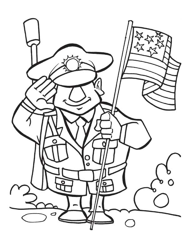 Veterans Day Remembrance Coloring