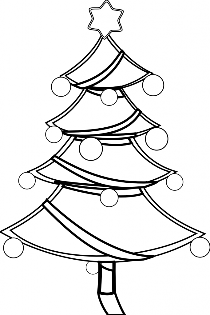 Christmas Tree Outline Clip Art Coloring Home Tree Clipart Coloring Page