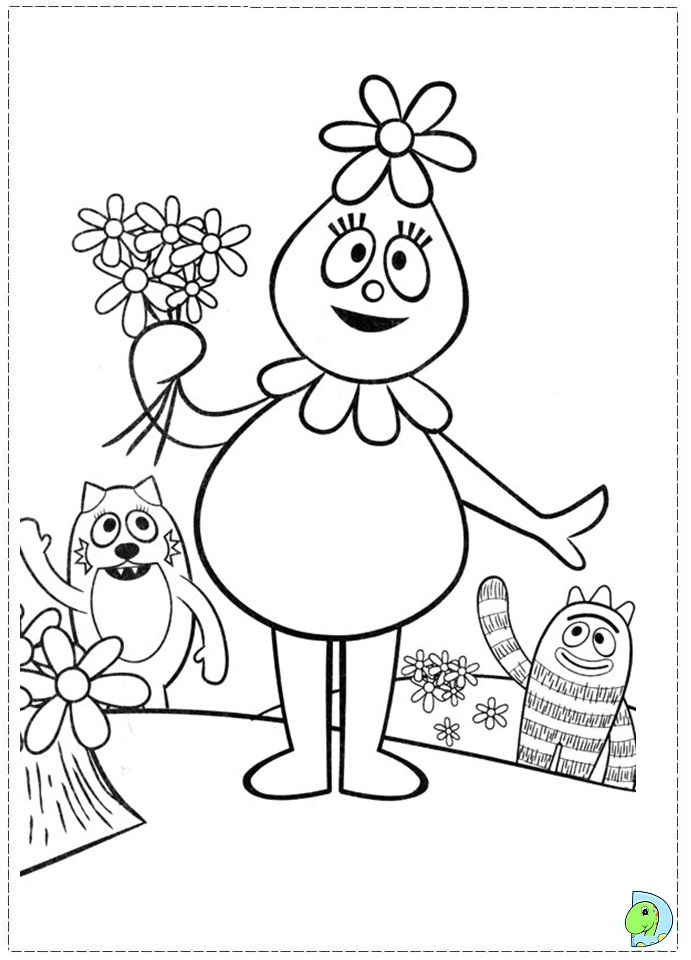 Yo Gabba Colouring Pages Tattoo
