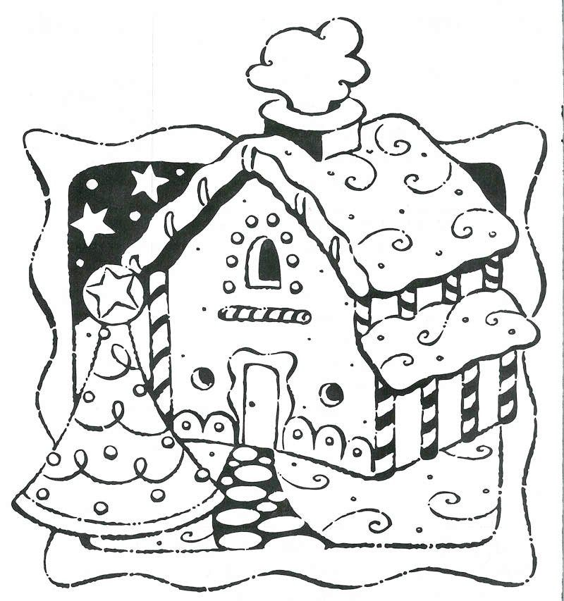 Gingerbread House Coloring Pages Pdf : Gingerbread house coloring page christmas pages