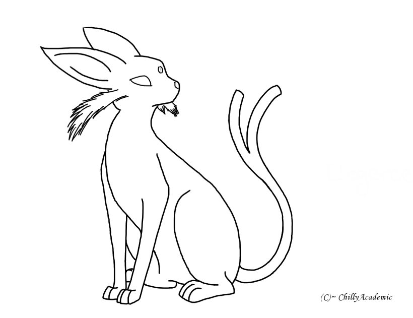 Espeon Coloring Pages Coloring Home