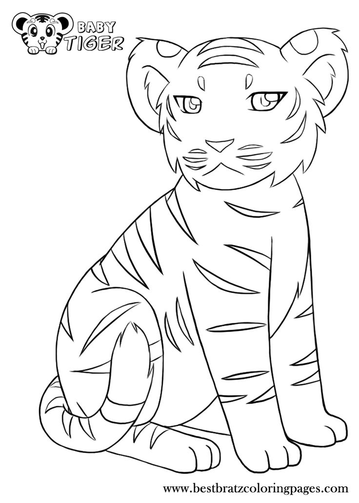 Baby Tiger Coloring Pages Coloring Home Baby Tiger Coloring Pages