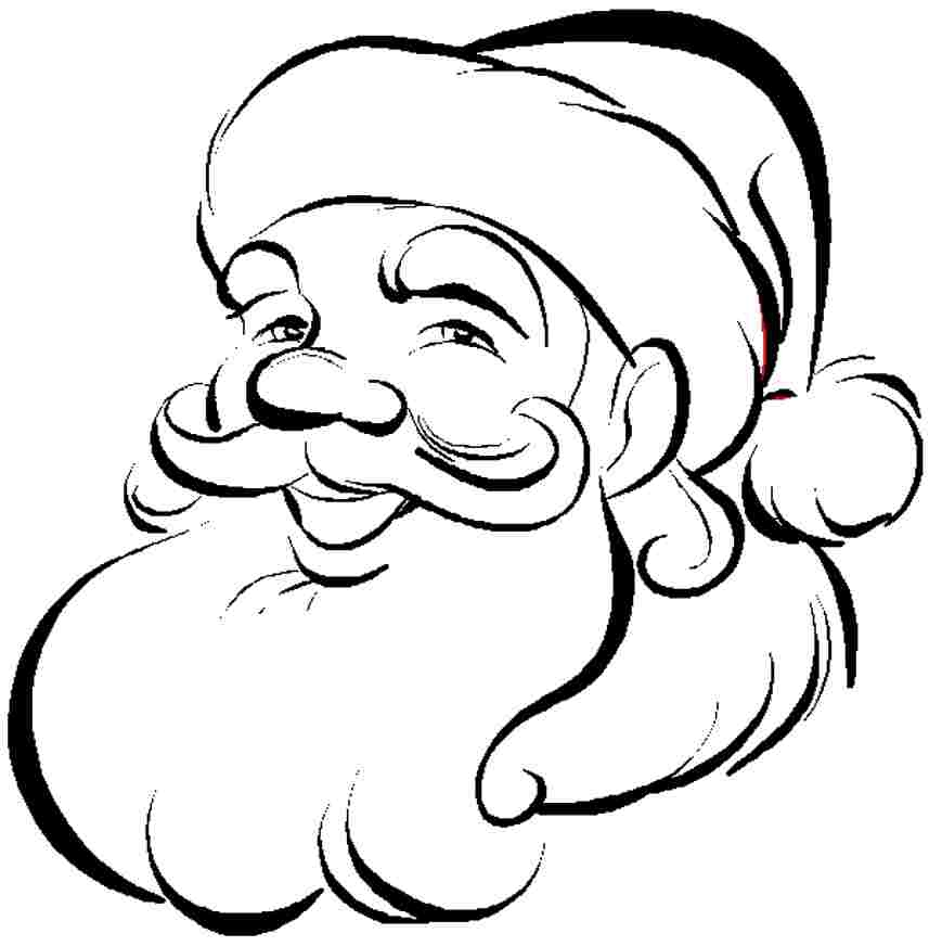 Santa claus template printable az coloring pages for Santa claus printable coloring pages